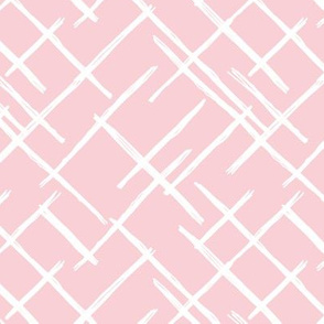 Abstract geometric raster checkered diagonal stripes stroke and lines trend pattern grid pink