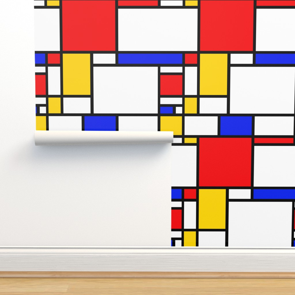 Isobar Durable Wallpaper featuring Mondrian by thewellingtonboot