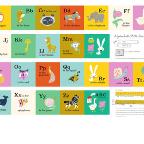 """Alphabet cloth book, A to Z activity book, one yard project (56"""" width)"""