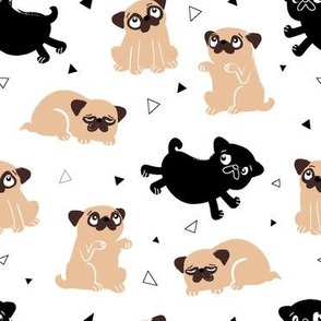 Pug Party Mixed Dog Medium Print