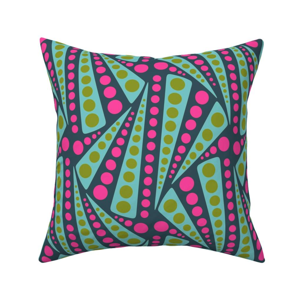 Catalan Throw Pillow featuring Sprinkler - neon by ormolu