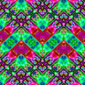 Stitched Vibrant Zigzags