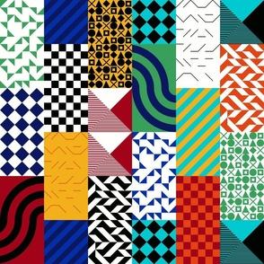 bauhaus inspired patchwork
