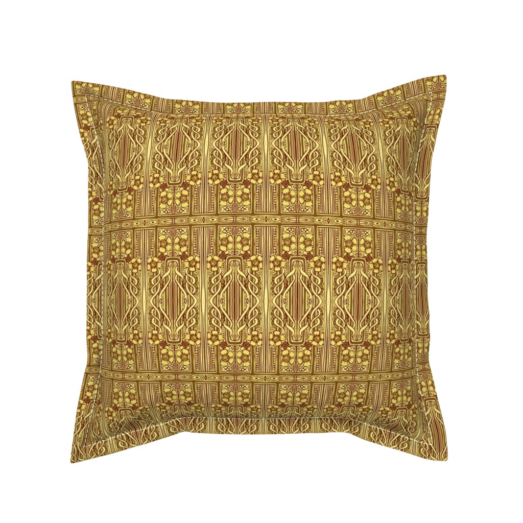 Serama Throw Pillow featuring Nouveau Vine Twist and Entwine by edsel2084