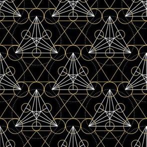 Linear Art Deco Geometric Pattern