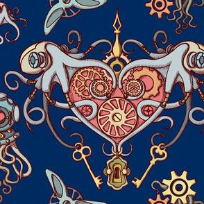 OCTOPUS in Love blue