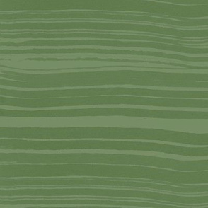 Green Watercolor Stripes / Large Scale