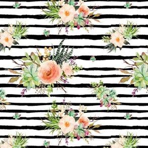 Cactus Floral – Black Stripe