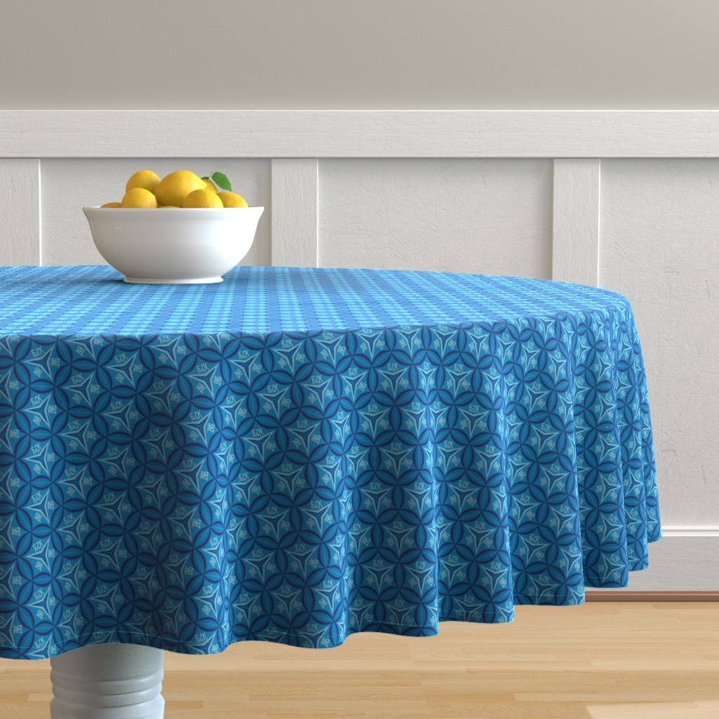 Malay Round Tablecloth featuring Fuck This Shit by secretbean