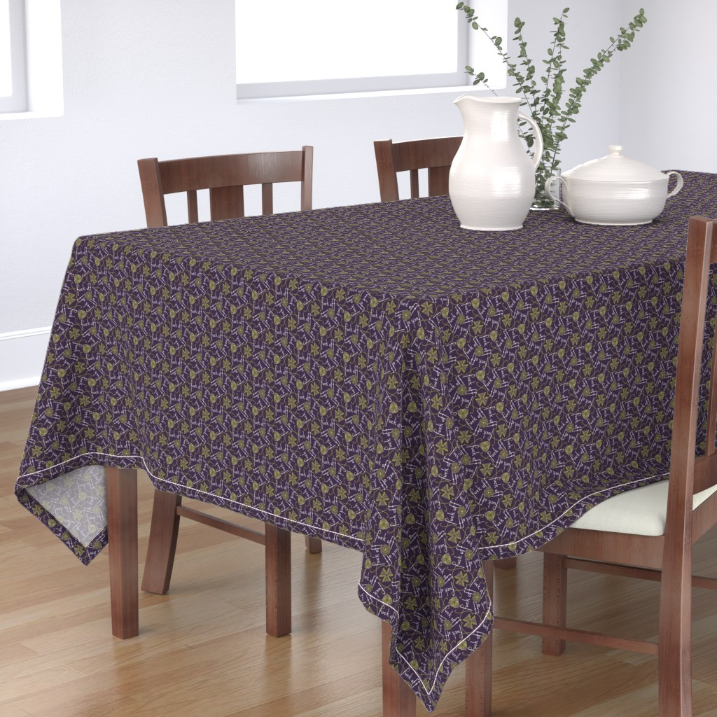 Bantam Rectangular Tablecloth featuring Fuck Off - cool by secretbean
