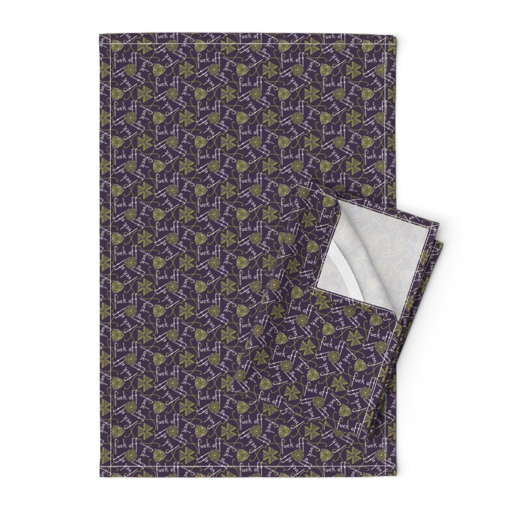Orpington Tea Towels featuring Fuck Off - cool by secretbean
