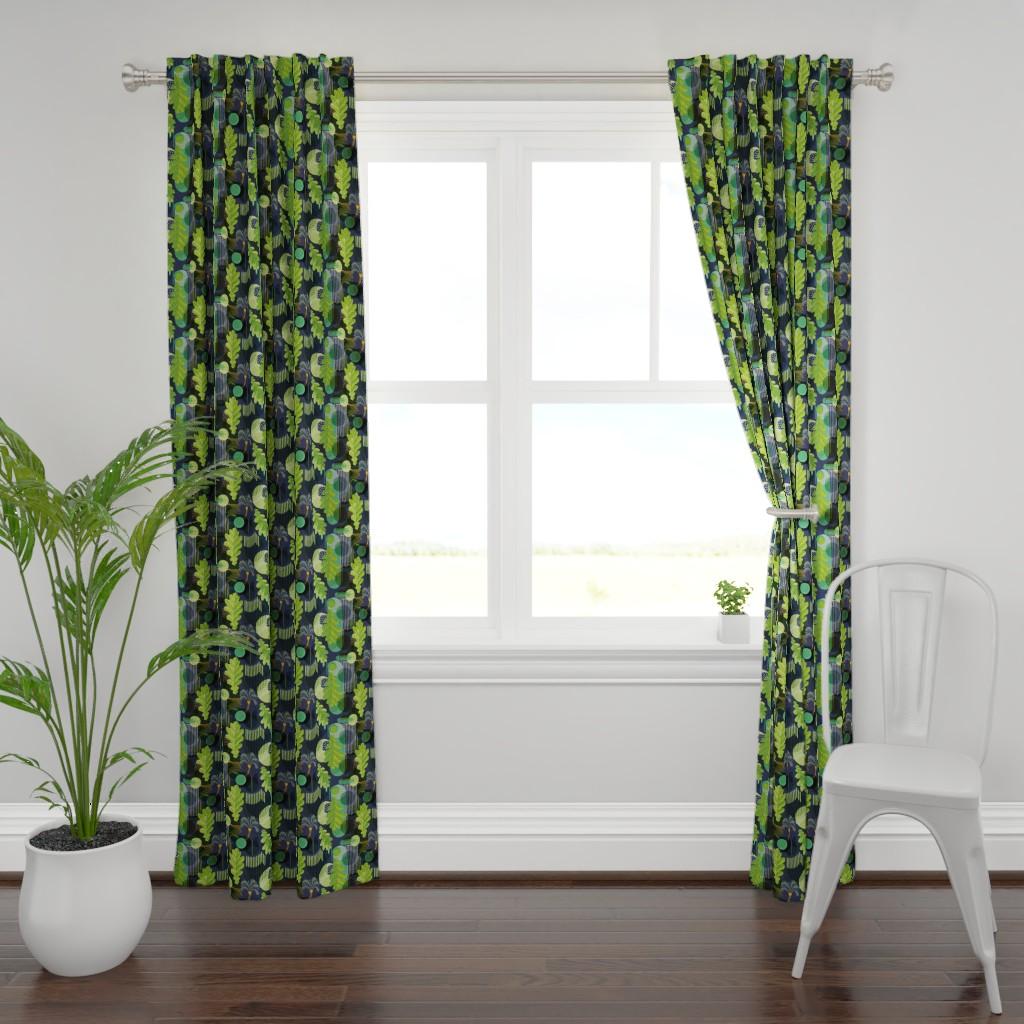 Plymouth Curtain Panel featuring Bauhaus Garden by rachelmacdonald