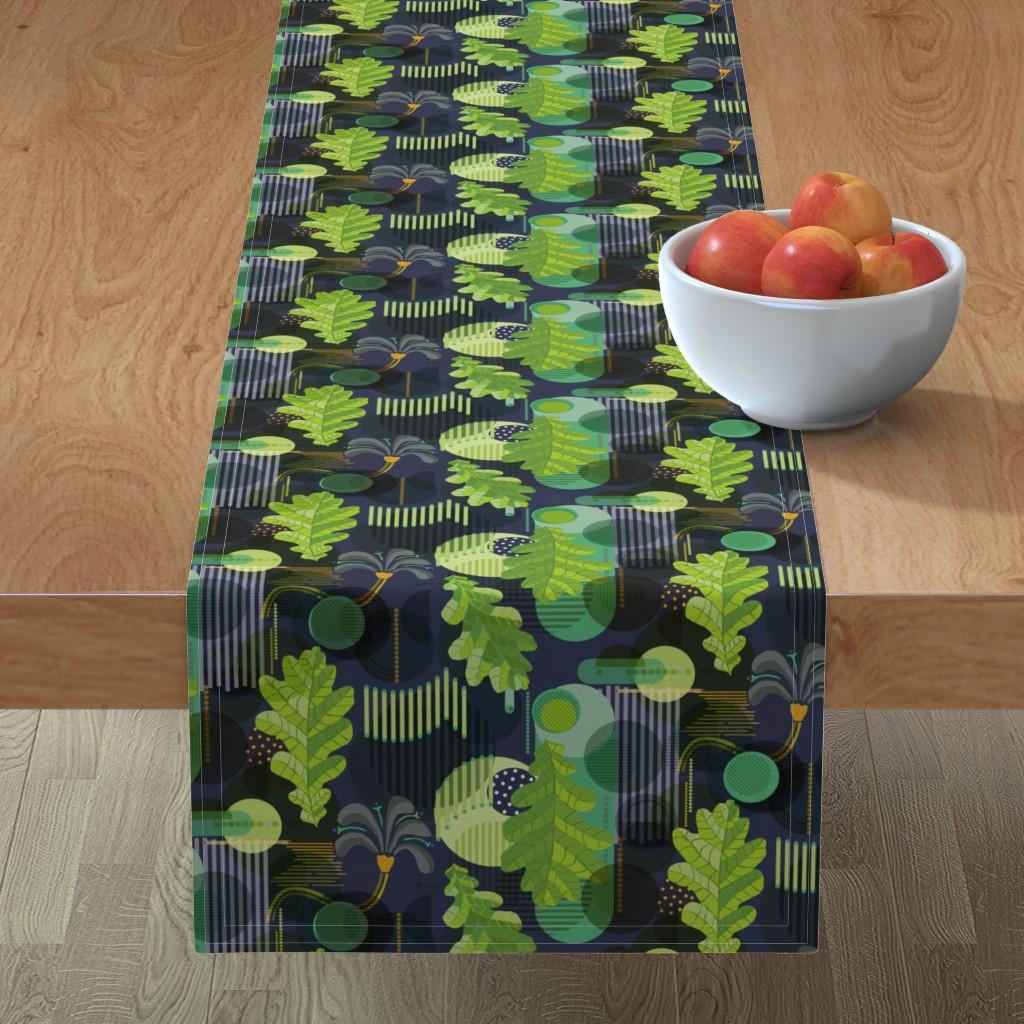 Minorca Table Runner featuring Bauhaus Garden by rachelmacdonald