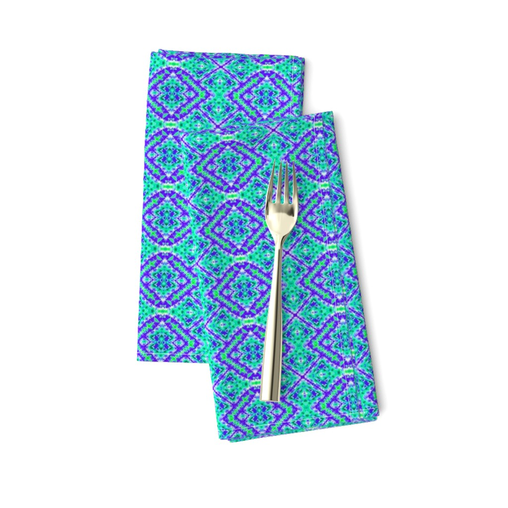 Amarela Dinner Napkins featuring Blocks of Diamonds by just_meewowy_design