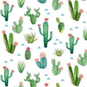 Watercolor Cactus Garden - small scale