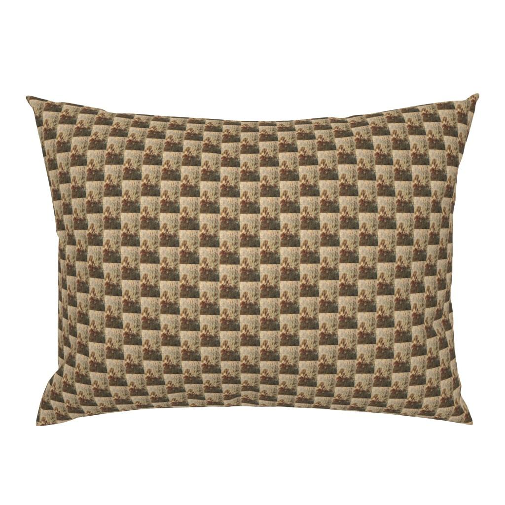 Campine Pillow Sham featuring KRLGFP-PIER ABSTRACT-HALFDROP by karenspix