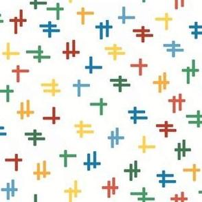 Rolling Robots companion crosshatch multicolor