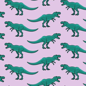 t-rex - dinosaur on light purple