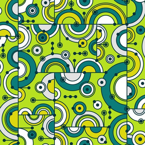 Circling the Bauhaus (Lime Green)