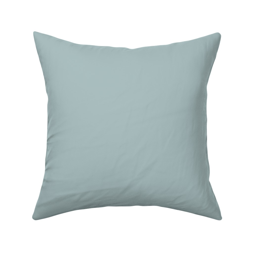 Catalan Throw Pillow featuring Light Blue Solid Coordinate // Sunshine Collection by anniemontgomerydesign