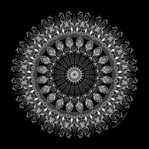 Fucking Feelings (black) - mandala