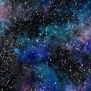 Space Galaxy Watercolor Nebula