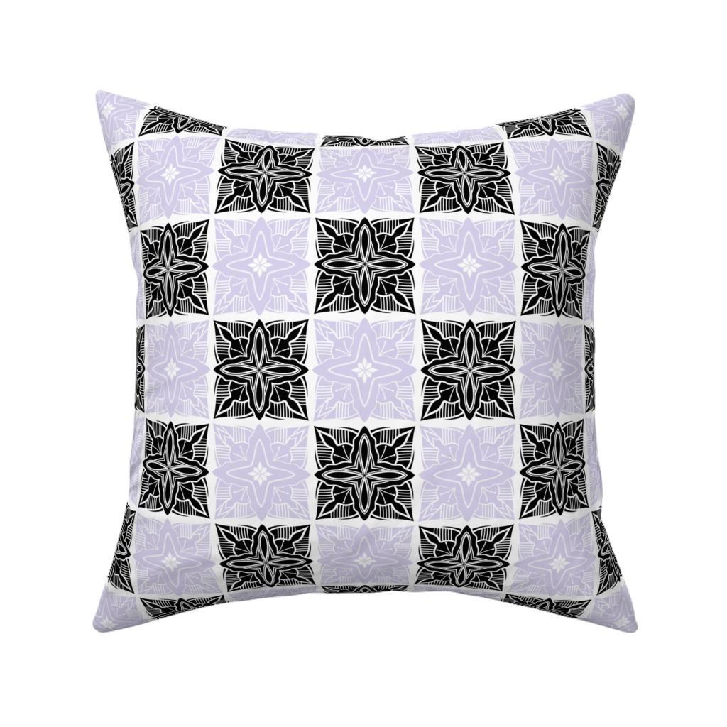 Catalan Throw Pillow featuring Flower ornament7 by tashakon