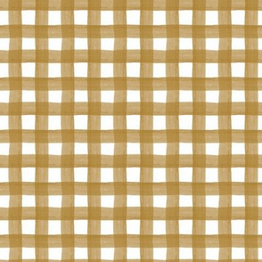 Gold Watercolor Gingham