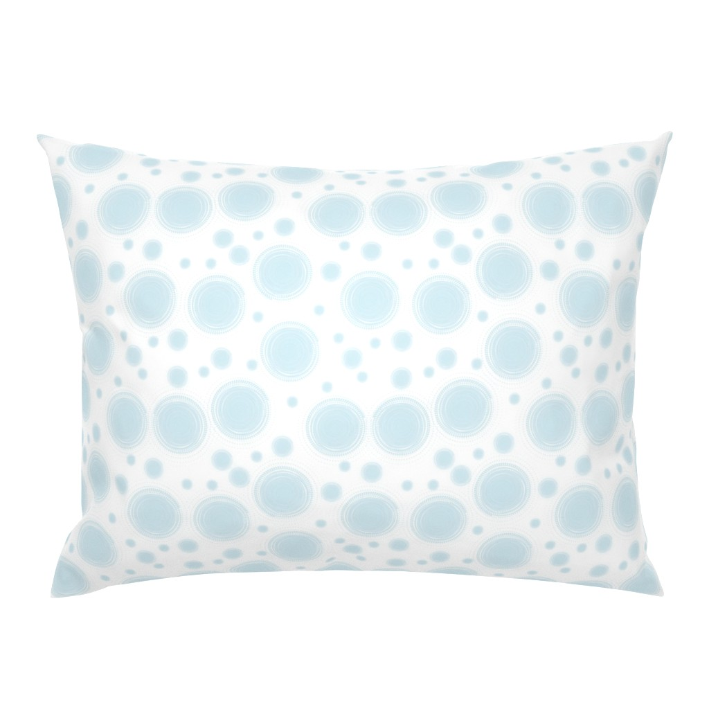 Campine Pillow Sham featuring Droplets aqua by lilyoake