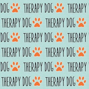 Therapy Dog Mint Linen