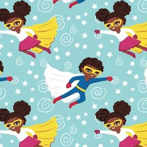 African American superhero boys girls
