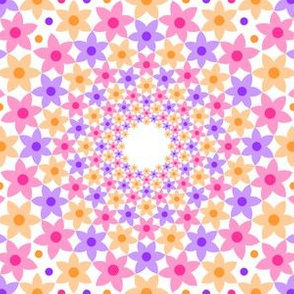 07678958 : mandala 12 : peach pink violet