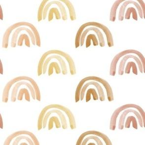 Golden Watercolor Rainbow Rows