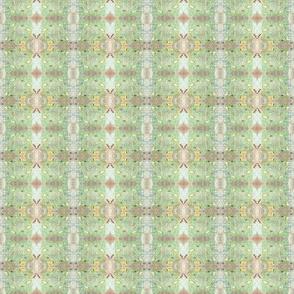 Pale Fish Collage Plaid