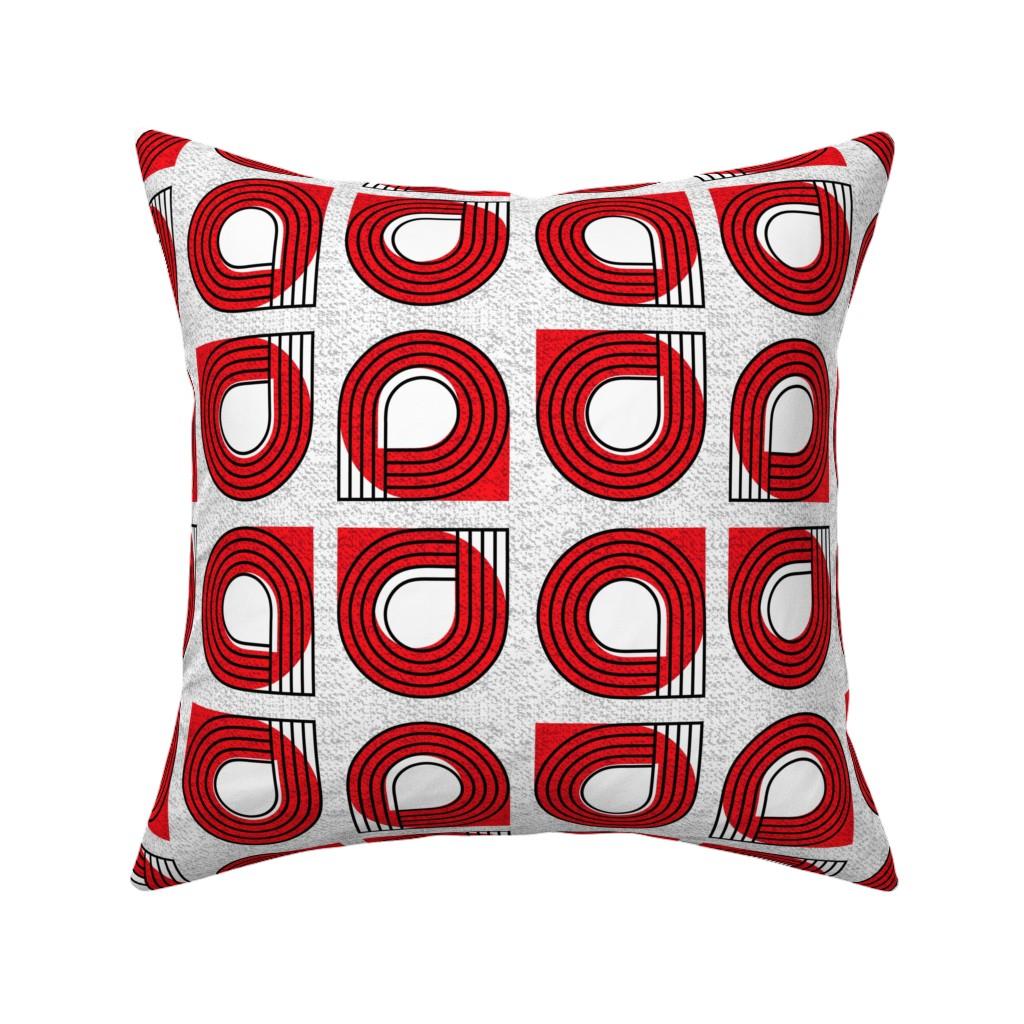 Catalan Throw Pillow featuring Bauhaus curves by ottomanbrim