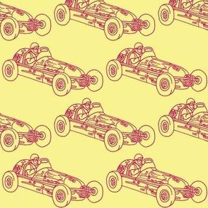 Child's Wind Up Tin Litho Race Car