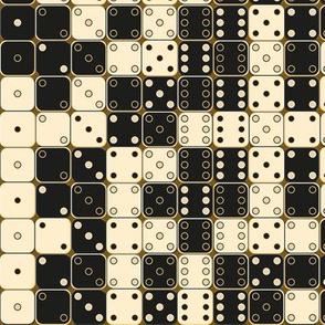 random Black And White Dice Pattern