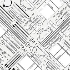 little architect's tool kit - monochrome