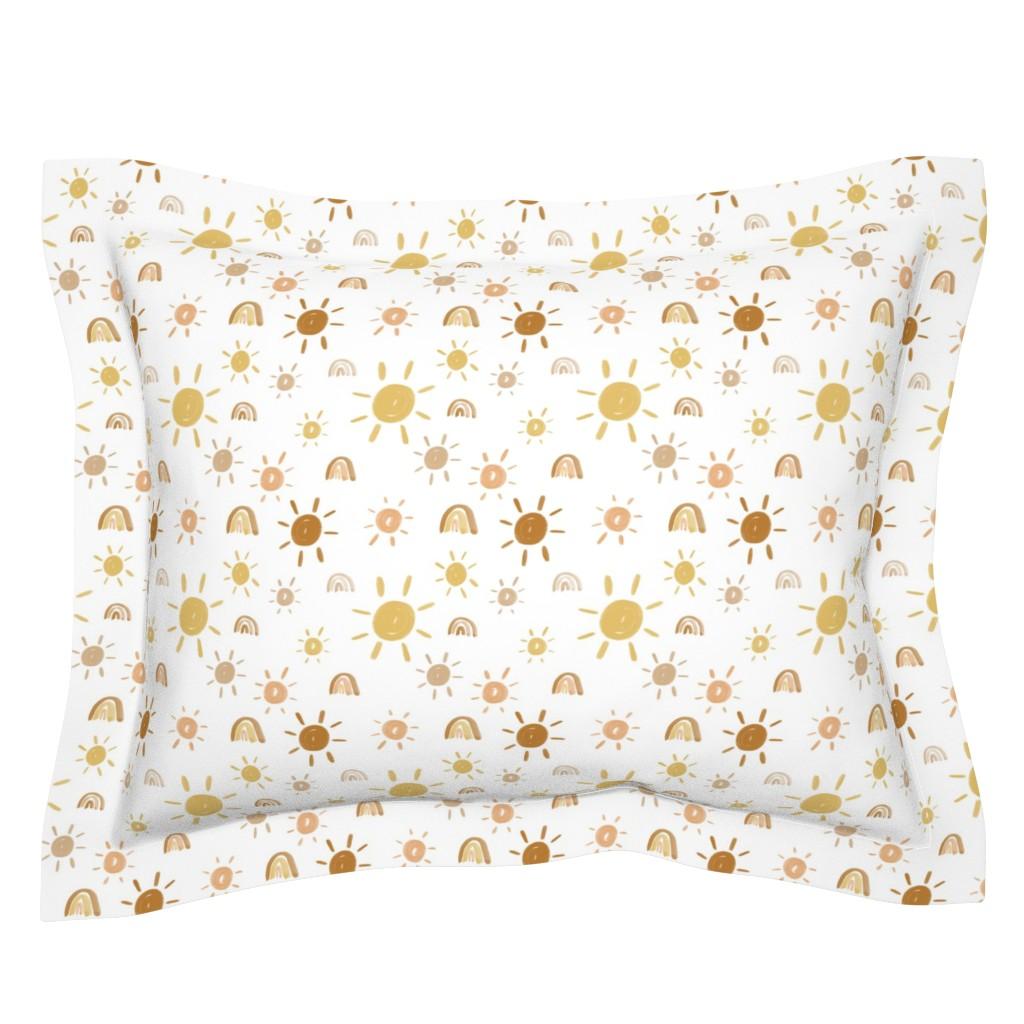 Sebright Pillow Sham featuring Mr. Golden Sun by anniemontgomerydesign