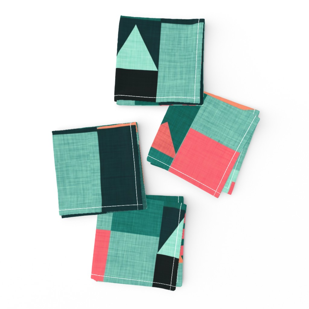 Frizzle Cocktail Napkins featuring Bauhaus Green Klee House  by bruxamagica