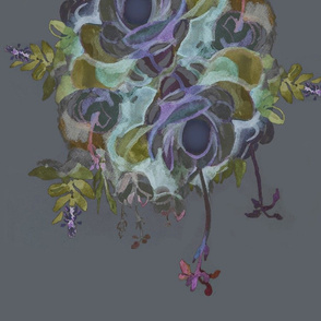 Botanical Wreath - Aubergine