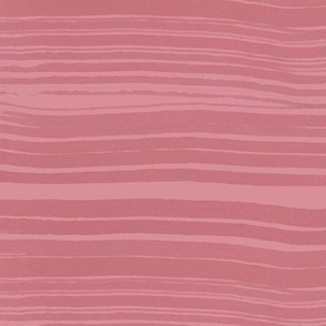 Pink Watercolor Stripes / Large Scale
