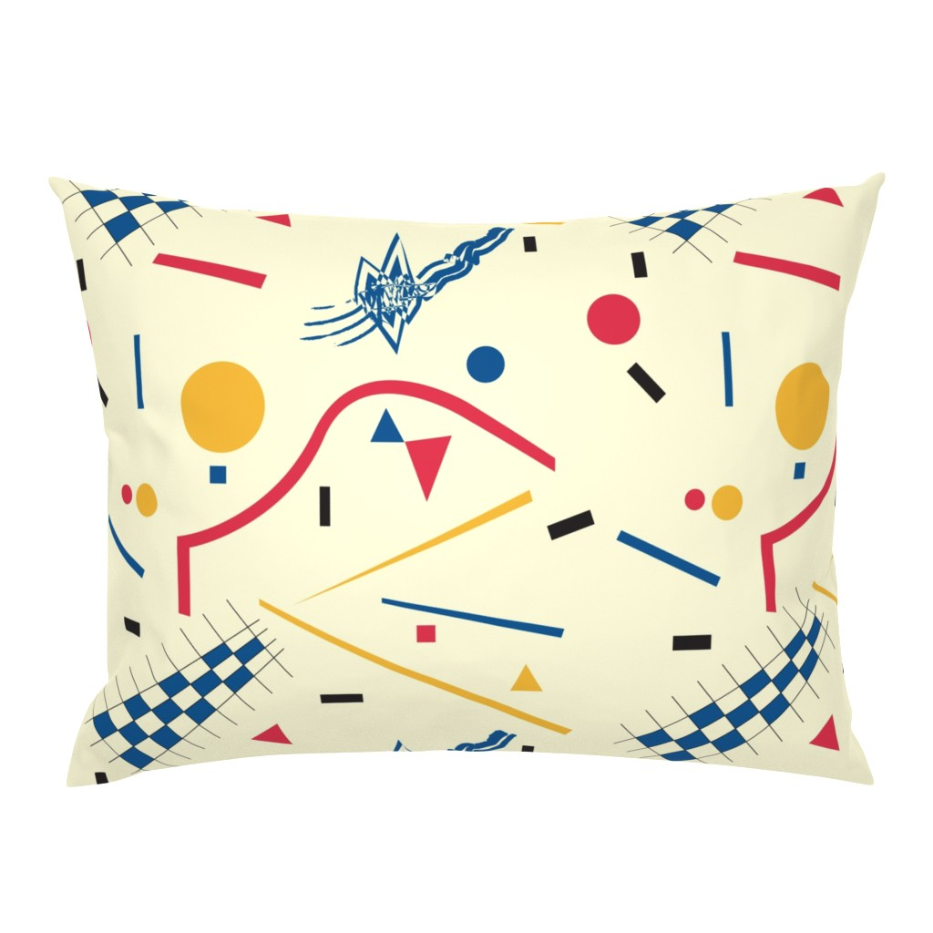 Campine Pillow Sham featuring Bauhaus by exotic_vector