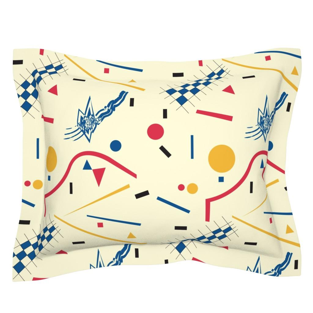 Sebright Pillow Sham featuring Bauhaus by exotic_vector