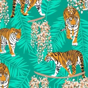 Siberian tiger. Mint pattern