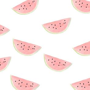 watermelon seamless pattern on white