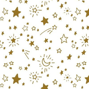Freehand Stars #1 in gold