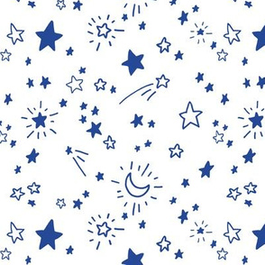 Freehand Stars #1 in blue