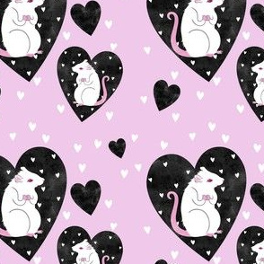 Rat Love - black and pink