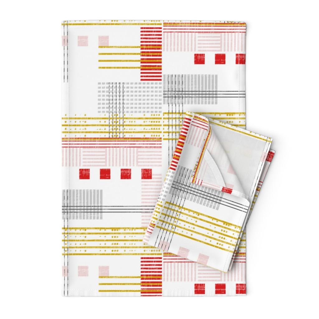 Orpington Tea Towels featuring Modern Bauhaus by mrshervi